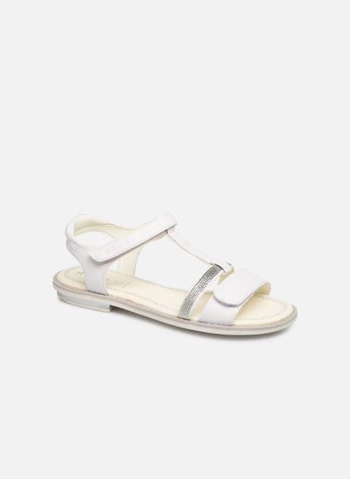 Sandales et nu-pieds Geox Jr Sandale Giglio J82E2B Blanc vue détail/paire