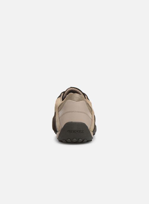 Sneakers Geox Uomo Snake U8207E Marrone immagine destra