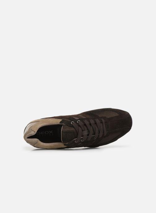 Sneakers Geox Uomo Snake U8207E Marrone immagine sinistra