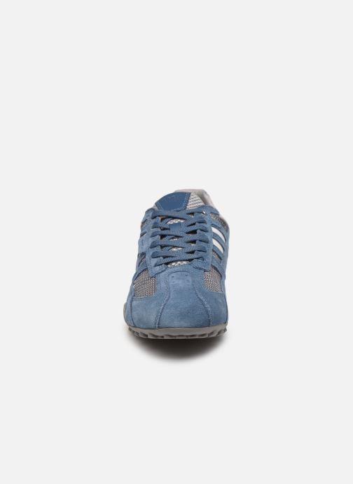 Baskets Geox Uomo Snake U8207E Bleu vue portées chaussures