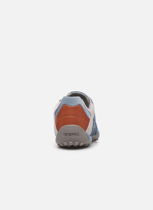 Baskets Geox Uomo Snake U8207E Bleu vue droite