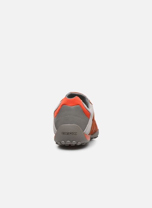 Baskets Geox Uomo Snake U8207E Orange vue droite