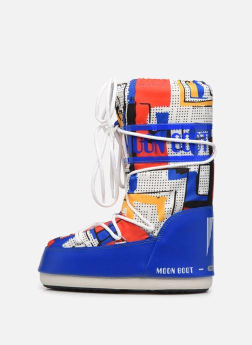 Sportschuhe Moon Boot Moon Boot Jr Boy Abstract blau ansicht von vorne