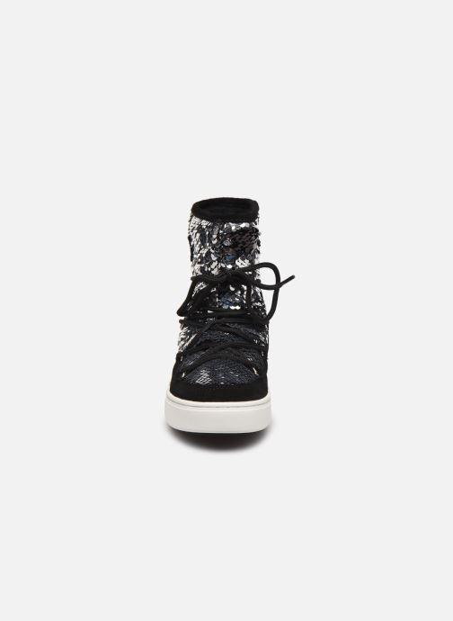 Chaussures de sport Moon Boot Moon Boot Pulse Mid Jr Girl Disco Noir vue portées chaussures