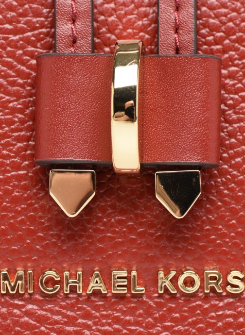 Sacs à main Michael Michael Kors MEDIUM CONVERTIBLE BUCKET SHOULDER MERCER GALLERY Rouge vue gauche