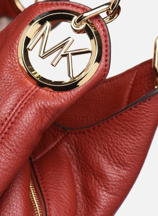Bolsos de mano Michael Michael Kors LILLIE LG CHAIN SHOULDER TOTE Rojo vista lateral izquierda