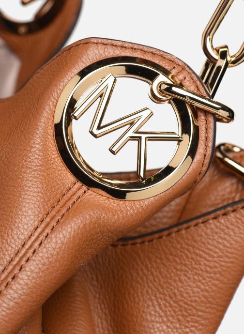 Handtaschen Michael Michael Kors LILLIE LG CHAIN SHOULDER TOTE braun ansicht von links