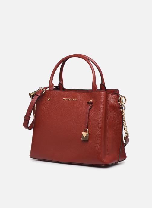 Bolsos de mano Michael Michael Kors ARIELLE LG SATCHEL Rojo vista del modelo
