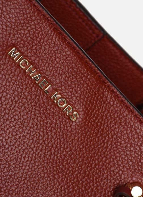 Sacs à main Michael Michael Kors ARIELLE LG SATCHEL Rouge vue gauche