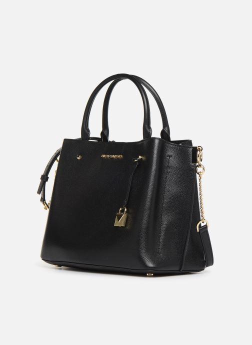 Bolsos de mano Michael Michael Kors ARIELLE LG SATCHEL Negro vista del modelo