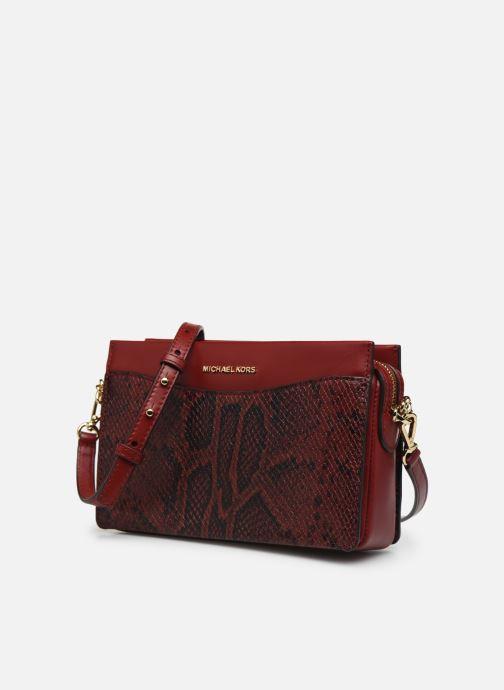 Bolsos de mano Michael Michael Kors JET SET LG CHAIN CONVERTIBLE CROSSBODY Rojo vista del modelo
