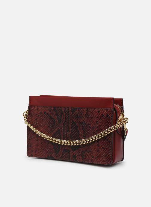 Bolsos de mano Michael Michael Kors JET SET LG CHAIN CONVERTIBLE CROSSBODY Rojo vista lateral derecha