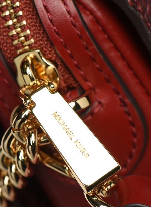 Bolsos de mano Michael Michael Kors JET SET LG CHAIN CONVERTIBLE CROSSBODY Rojo vista lateral izquierda