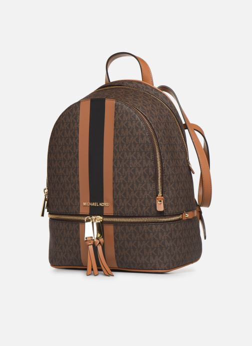 Mochilas Michael Michael Kors RHEA ZIP MIDIUM BACKPACK Marrón vista del modelo