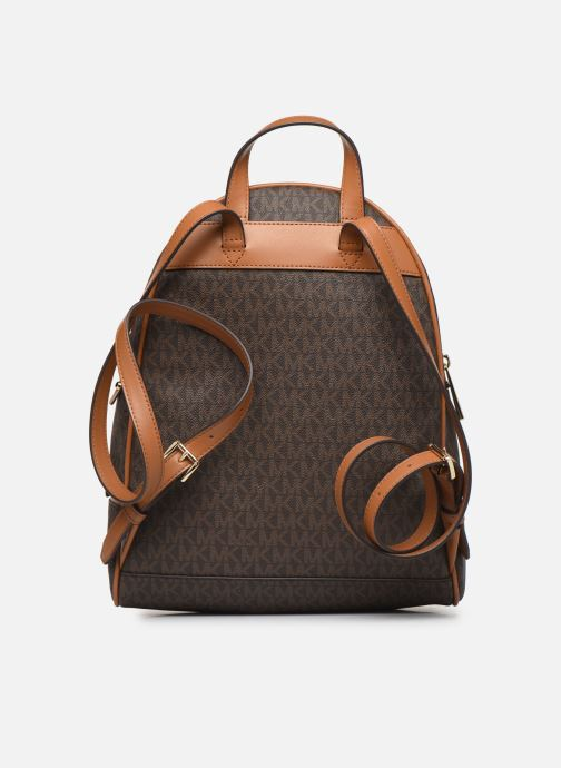Mochilas Michael Michael Kors RHEA ZIP MIDIUM BACKPACK Marrón vista de frente