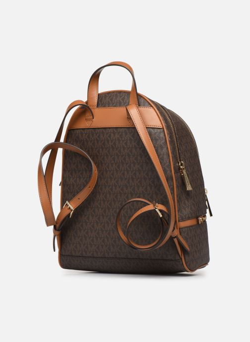 Mochilas Michael Michael Kors RHEA ZIP MIDIUM BACKPACK Marrón vista lateral derecha