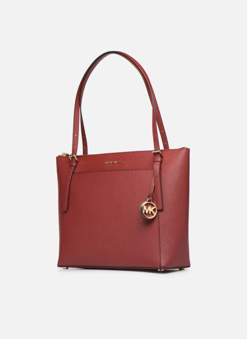 Bolsos de mano Michael Michael Kors VOYAGER LG EW TZ TOTE Rojo vista del modelo