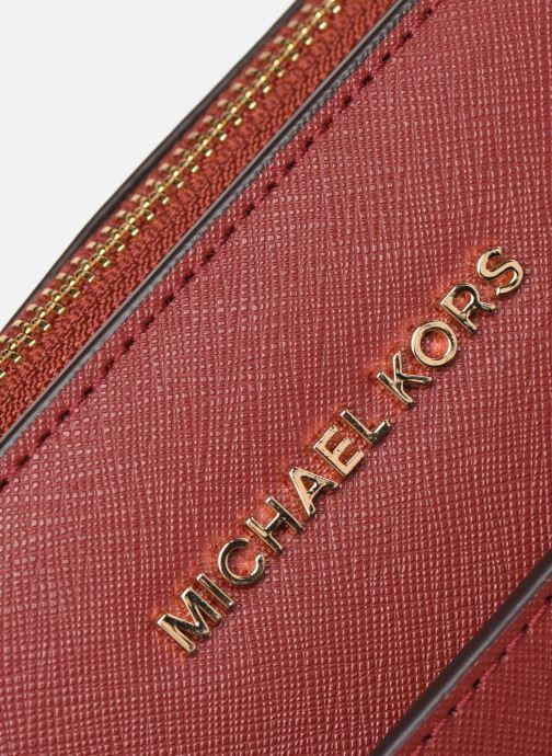 Bolsos de mano Michael Michael Kors VOYAGER LG EW TZ TOTE Rojo vista lateral izquierda
