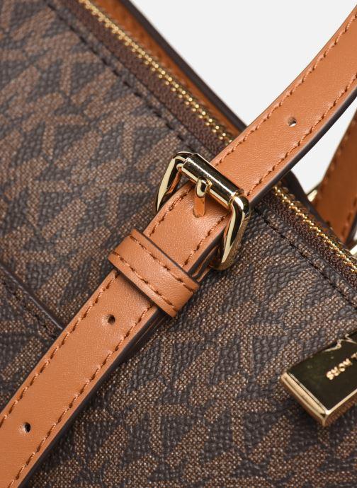 Bolsos de mano Michael Michael Kors VOYAGER LG EW TZ TOTE Marrón vista lateral izquierda