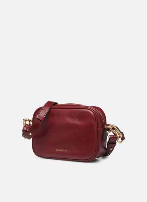 Sacs à main Vanessa Bruno HOLLY BODY BAG Bordeaux vue portées chaussures