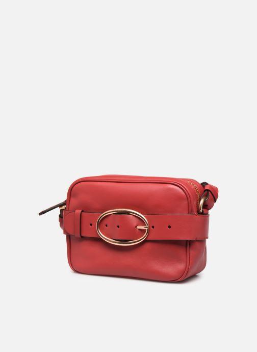 Sacs à main Vanessa Bruno MINI IRIS Rouge vue portées chaussures