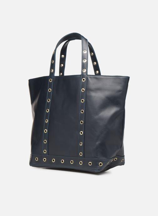 Handtassen Vanessa Bruno CABAS M CUIR OEILLETS Blauw model