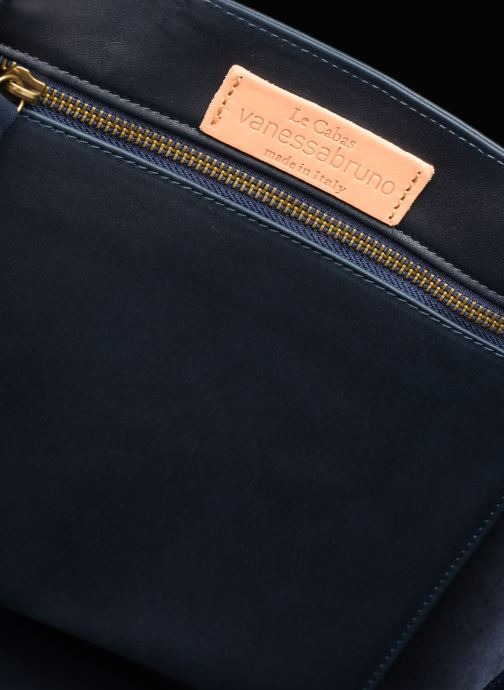 Handtassen Vanessa Bruno CABAS M CUIR OEILLETS Blauw achterkant