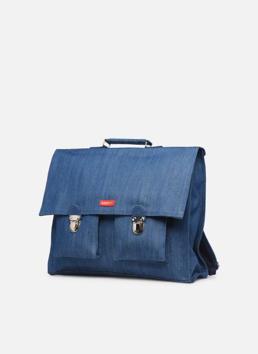 Scolaire Bakker Made With Love CARTABLE GRANDE CLASSE JEAN 40*10*35CM Bleu vue portées chaussures