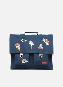 Scolaire Sacs CARTABLE GRANDE CLASSE JEAN & PATCHES 40*10*35CM