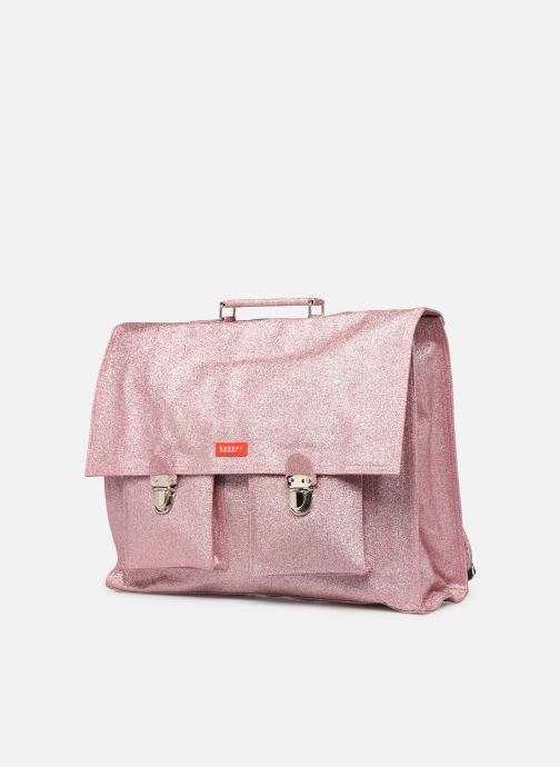 School bags Bakker Made With Love CARTABLE GRANDE CLASSE GLITTER 40*10*35CM Pink model view