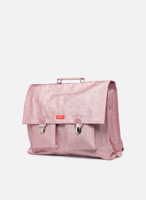 Bandoleras y Colegio Bakker Made With Love CARTABLE GRANDE CLASSE GLITTER 40*10*35CM Rosa vista del modelo