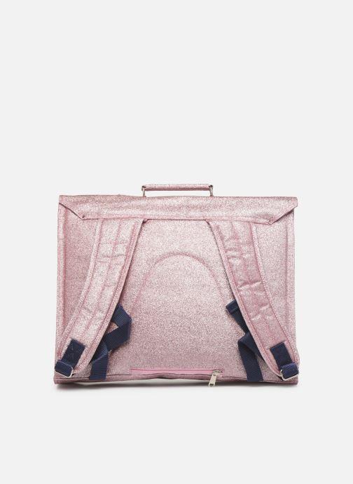 Skoletasker Bakker Made With Love CARTABLE GRANDE CLASSE GLITTER 40*10*35CM Pink se forfra