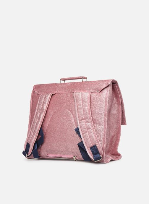 School bags Bakker Made With Love CARTABLE GRANDE CLASSE GLITTER 40*10*35CM Pink view from the right