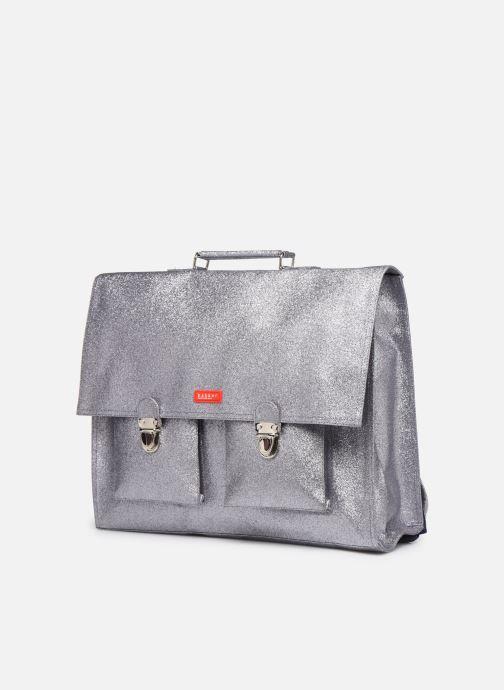School bags Bakker Made With Love CARTABLE GRANDE CLASSE GLITTER 40*10*35CM Silver model view