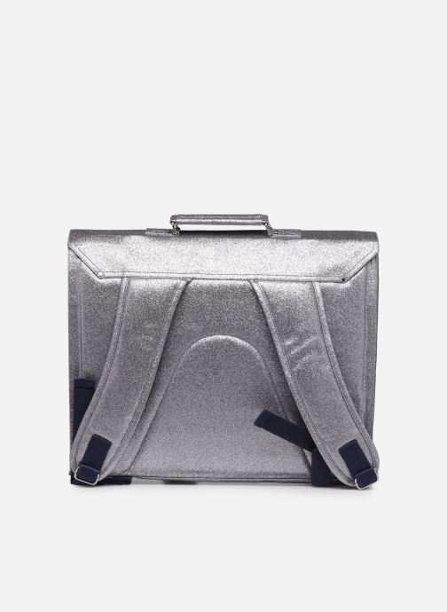 School bags Bakker Made With Love CARTABLE GRANDE CLASSE GLITTER 40*10*35CM Silver front view