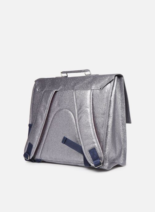 School bags Bakker Made With Love CARTABLE GRANDE CLASSE GLITTER 40*10*35CM Silver view from the right