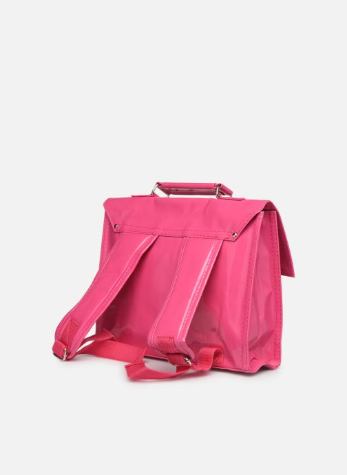 School bags Bakker Made With Love CARTABLE MINI BRETELLES 28*7*22CM Pink view from the right