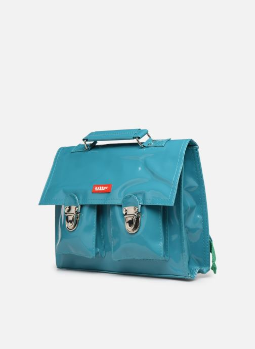 School bags Bakker Made With Love CARTABLE MINI BRETELLES 28*7*22CM Blue model view