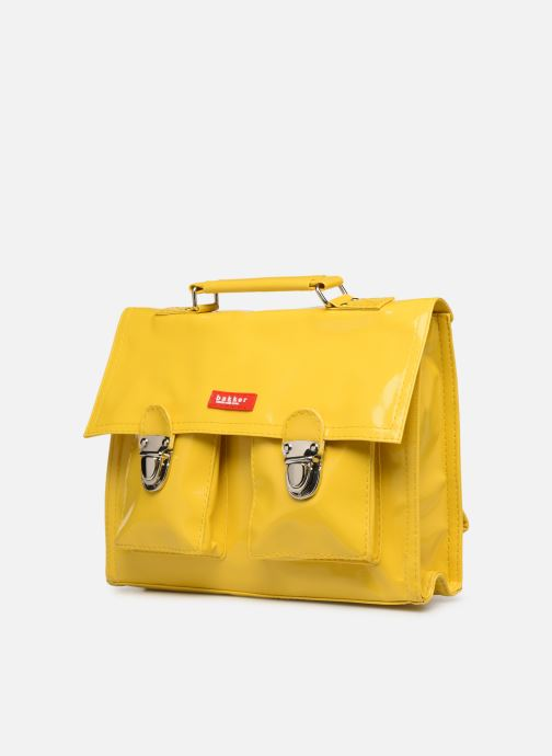 School bags Bakker Made With Love CARTABLE MINI BRETELLES 28*7*22CM Yellow model view