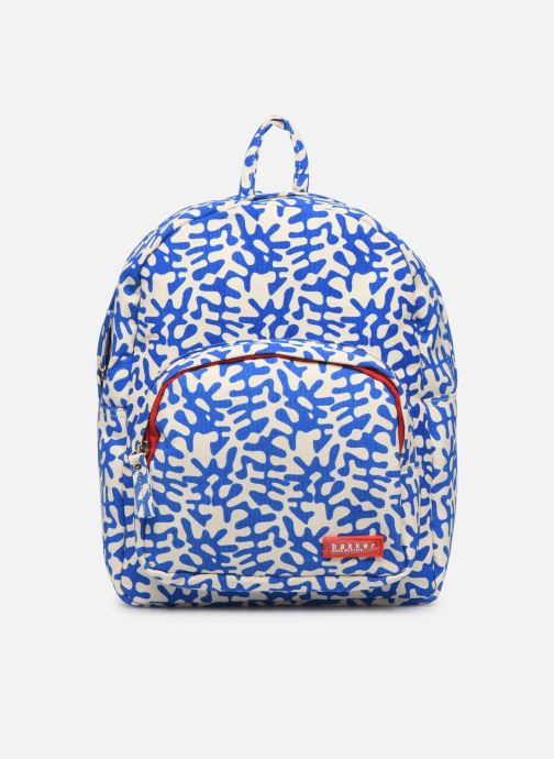 School bags Bakker Made With Love BACKPACK MINI CANVAS CAPSULE 27*7*21CM Blue detailed view/ Pair view