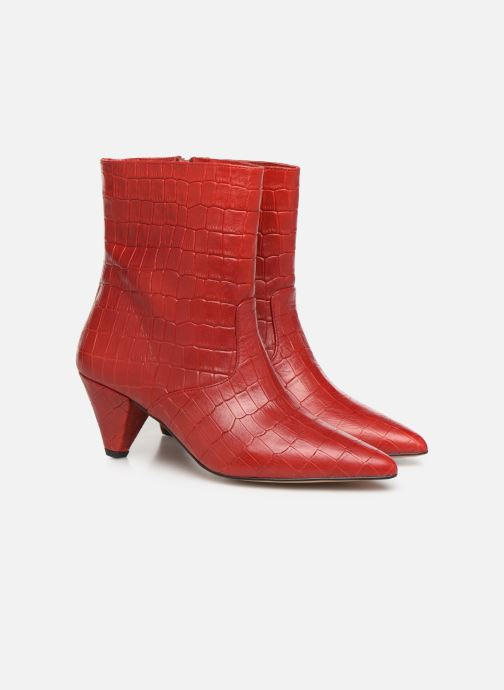Bottines et boots Essentiel Antwerp Trimetal Rouge vue 3/4