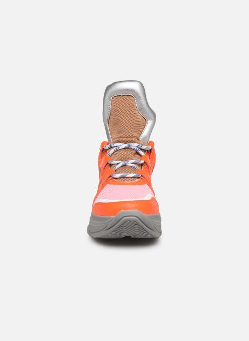 Baskets Essentiel Antwerp Taconafide Sneakers Orange vue portées chaussures