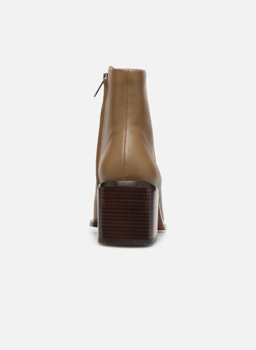 Bottines et boots Clergerie Xenia Beige vue droite