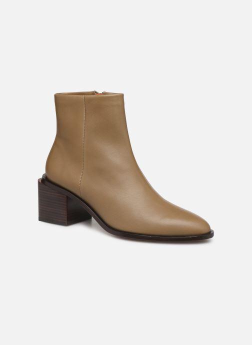 Ankelstøvler Clergerie Xenia Beige detaljeret billede af skoene