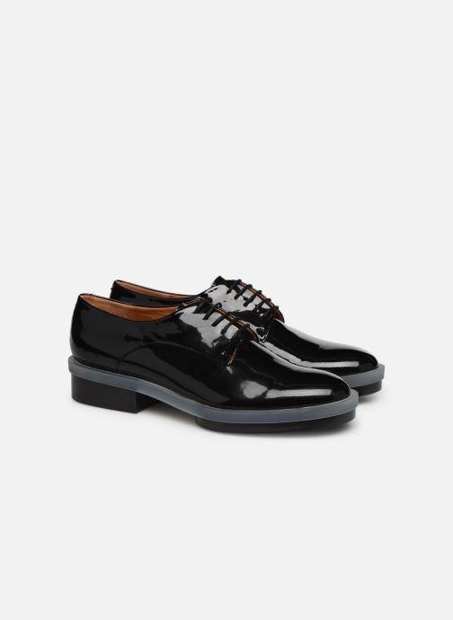 Chaussures à lacets Clergerie Roma Noir vue 3/4