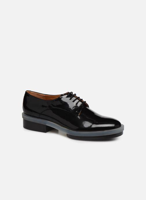 Chaussures à lacets Clergerie Roma Noir vue détail/paire