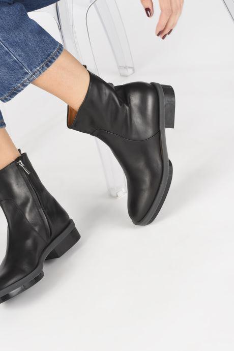 Bottines et boots Clergerie Roll Noir vue bas / vue portée sac