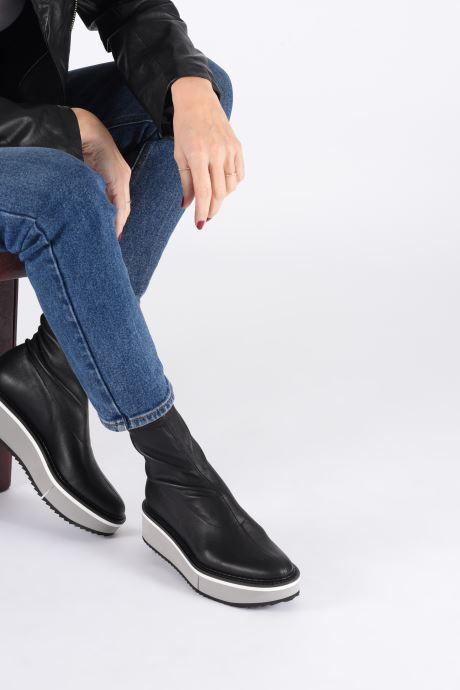 Ankle boots Clergerie Berta Black view from underneath / model view