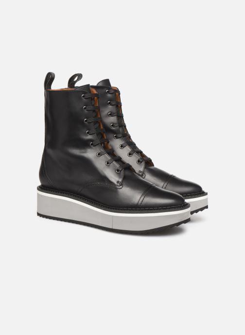 Bottines et boots Clergerie British Noir vue 3/4