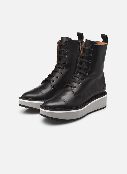 Bottines et boots Clergerie British Noir vue bas / vue portée sac